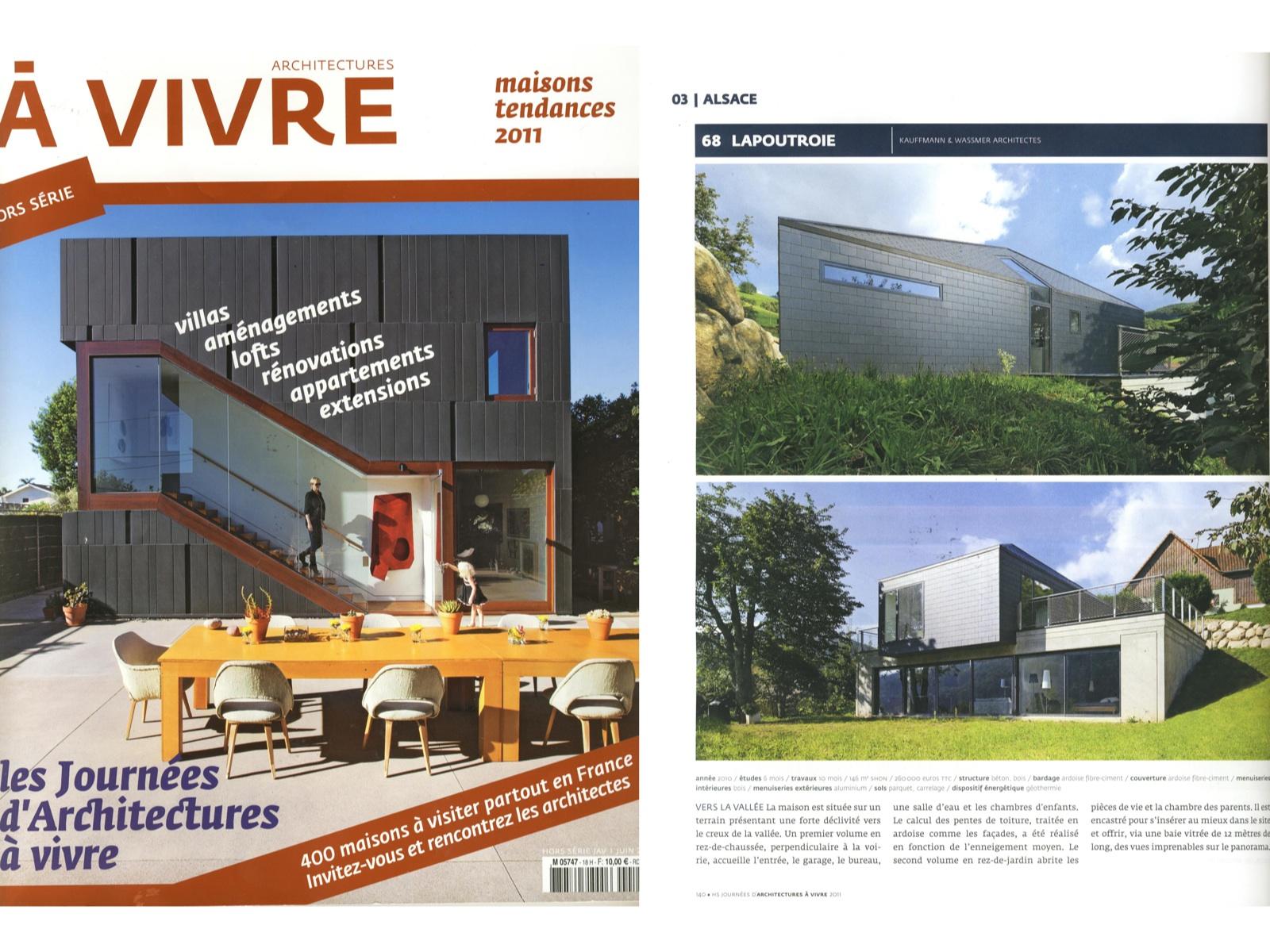 Articles de presse architecture - Architectures a vivre ...